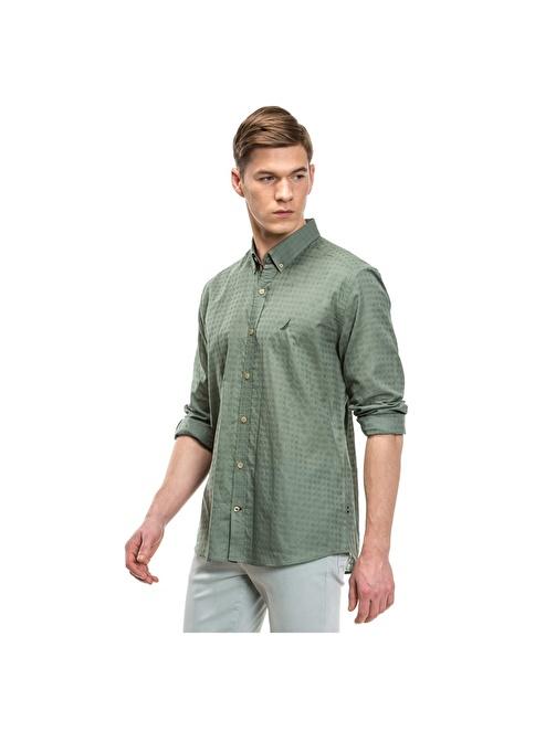 Nautica Kareli Gömlek Yeşil